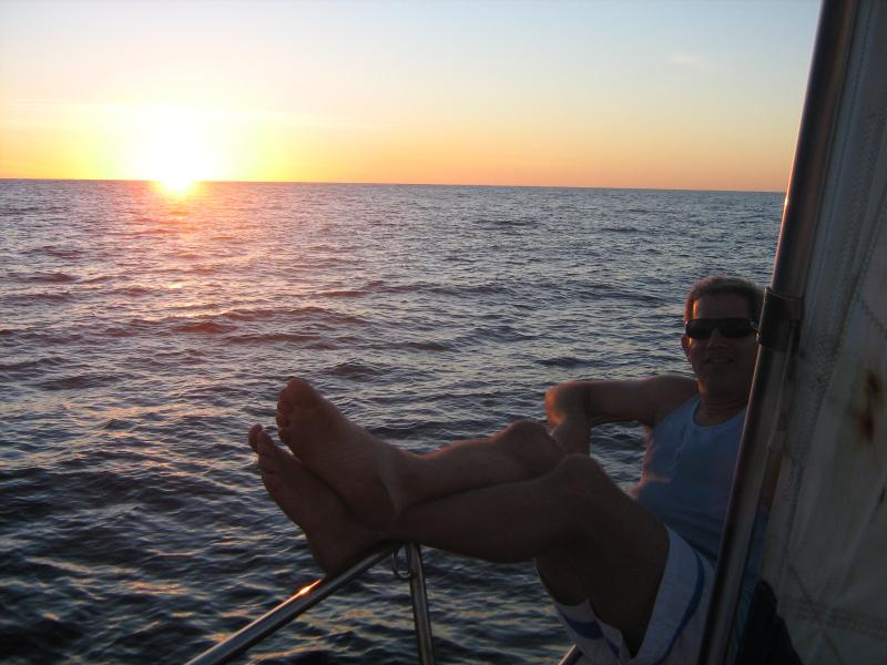 Scott sailing on the Tasman Sea